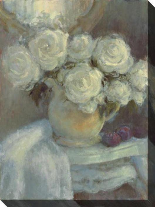 Fresh From The Garden Ii Canvas Wall Art - Ii, White