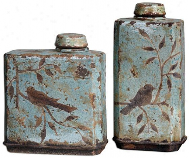 Freya Containers - Set Of 2 - Sharpen Of 2, Light Blue