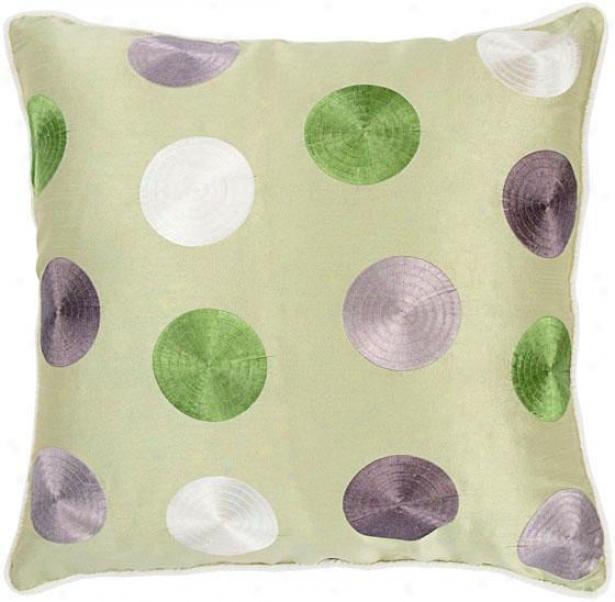 Fulton Pillow - 18x18, Green