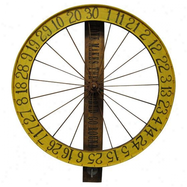 Gaming Wheel - 36.5hx30wx4.5d, Yellow