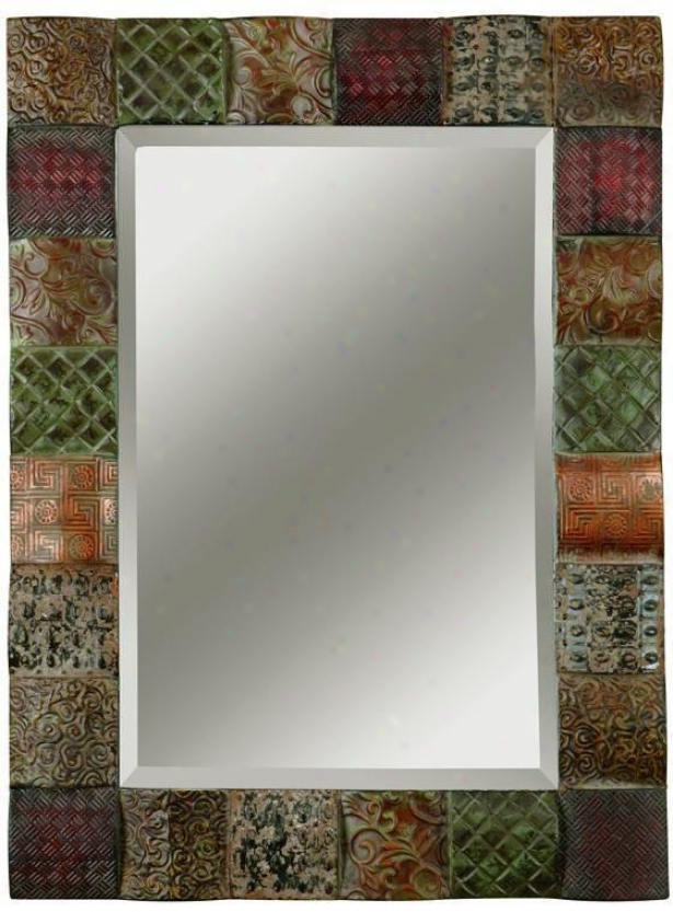 Ganya Mirror - 31x41, Multi