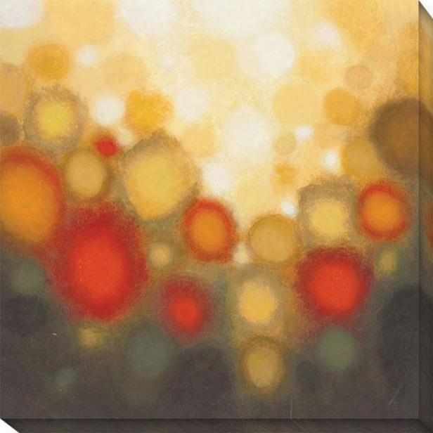Garden Party Ii Canvas Wall Art - Ii, Yellow