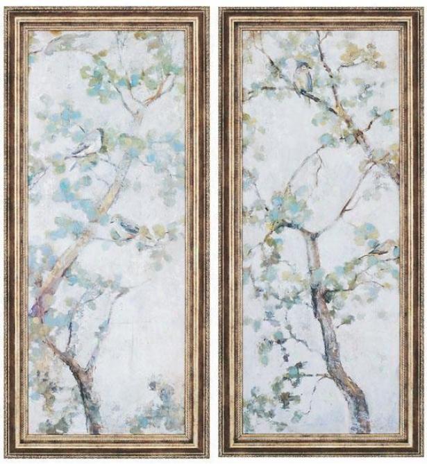 """""""garden Wall Art - Set Of 2 - 42""""""""hx19""""""""w, Blue"""""""