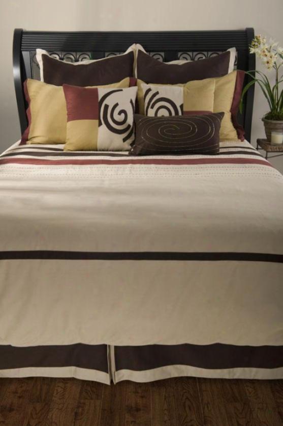 Garrison Bedding Set - Queen 9pc Set , Beige