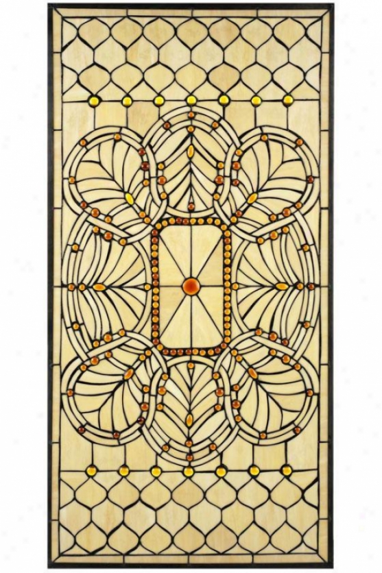 """geneva Art Glass Large Rectangle - 40""""hx20""""w, Copper"""