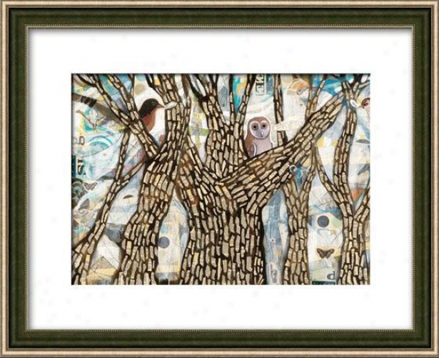Get Out I Framed Wall Trade - I, Matted Silver