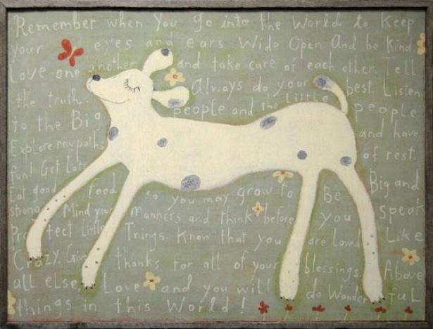 Girl Dog Wall Art - 24hx36wx2d, Gray