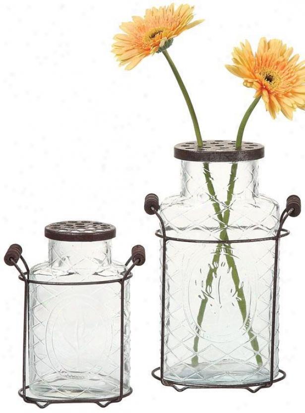 Glass Jar Vase - 6.25x10.5, Clear