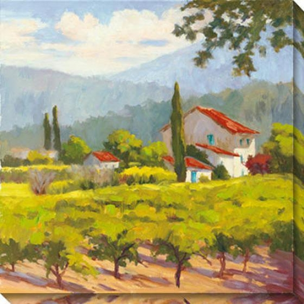 Glorious Estate I Canvqs Wall Ar t- I, Green