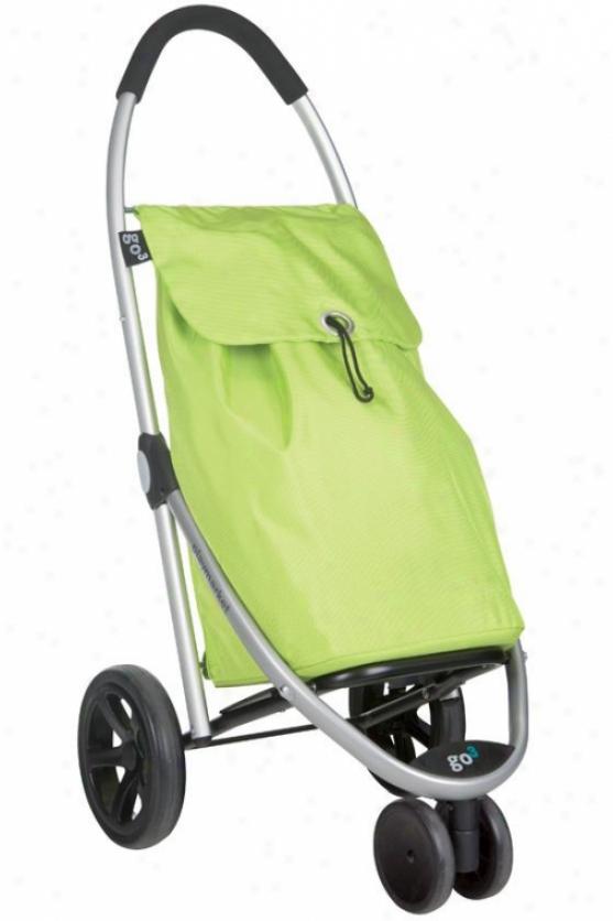 Walk Three Rolling Cart - 40hx20w, Yellow