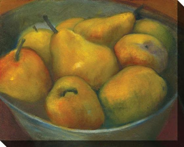 """golden Pears Canvas Wali Art - 46""""hx36""""w, Green"""