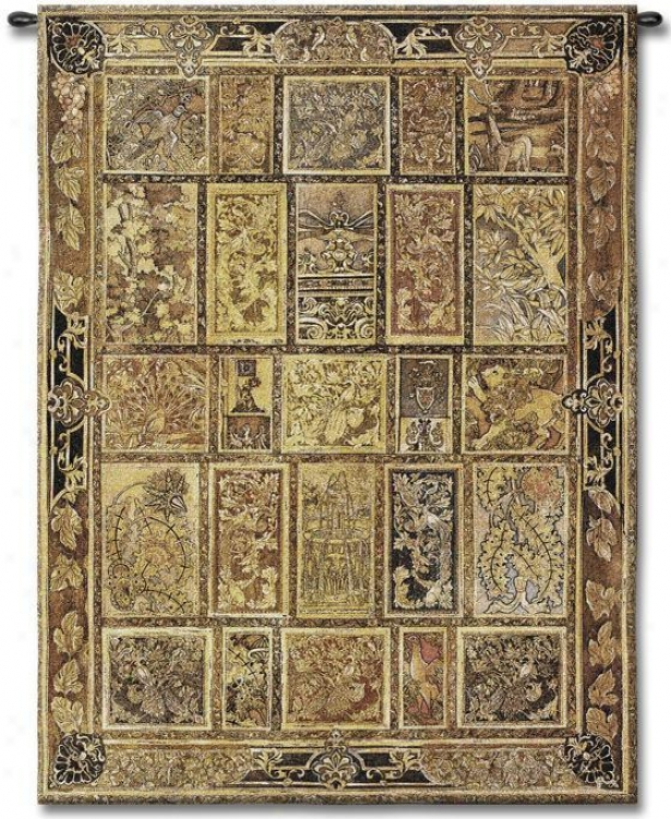 """golden Tapestry - 53""""hx37""""w, Gold"""