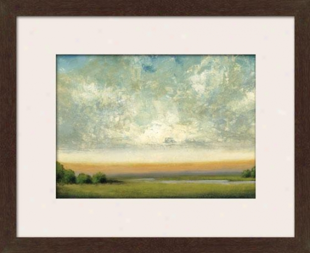 Good Earth Ii Framed Wwll Art - Ii, Matted Espresso