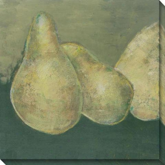"""gorham Pear Canvvas Wall Art - 40""""hx40""""w, Green"""