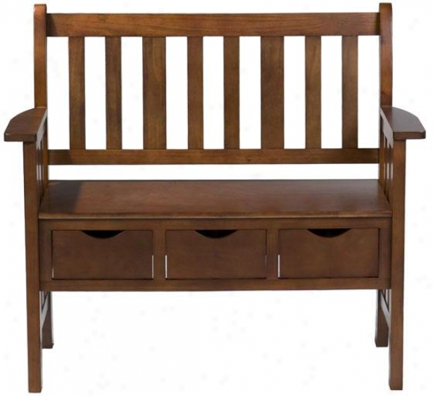 Graham Country Bench - 36h X 40w X 20d, Tan