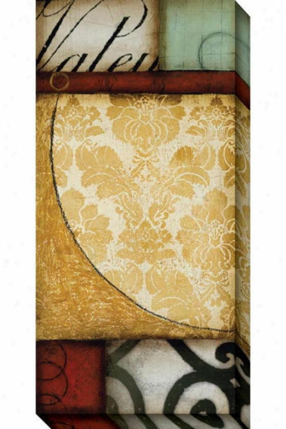 Grandeur Ii Canvas Wall Art - Ii, Beige