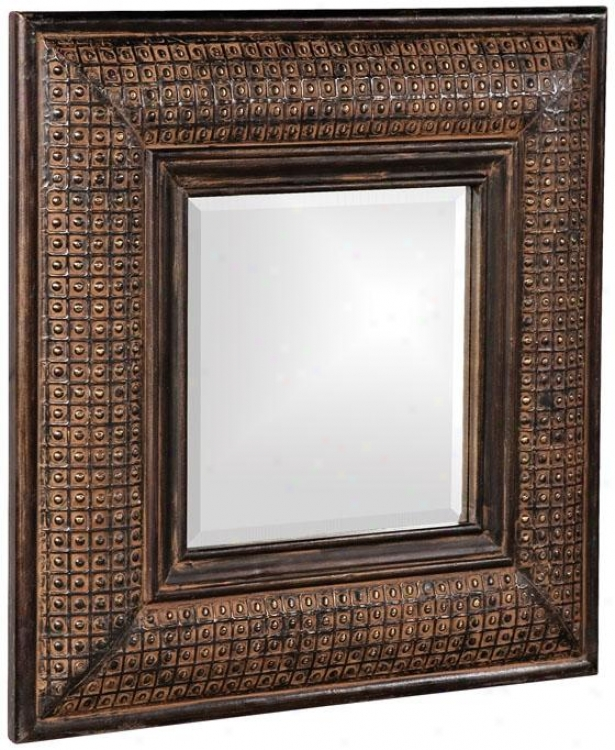 """grant Square Mirror - 23""""squarex2""""d, Ant Brwn W/cppr"""