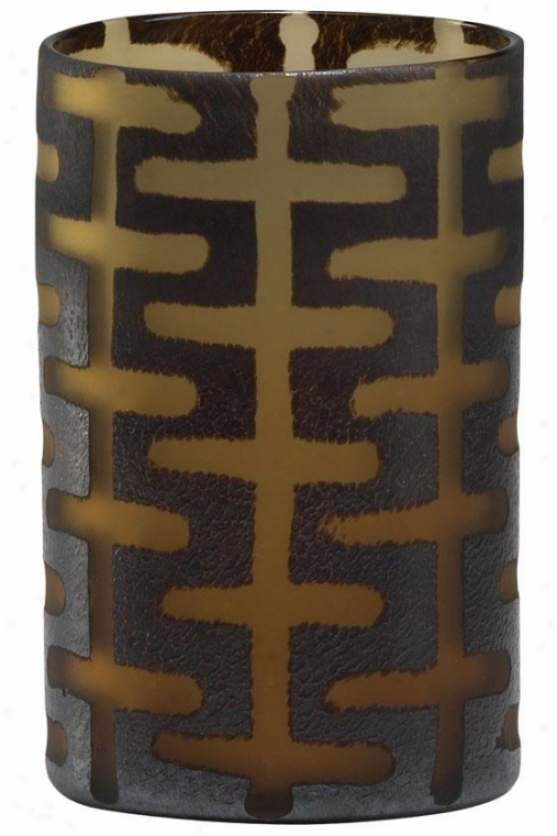 Graphic Vases - Geometric, Brown