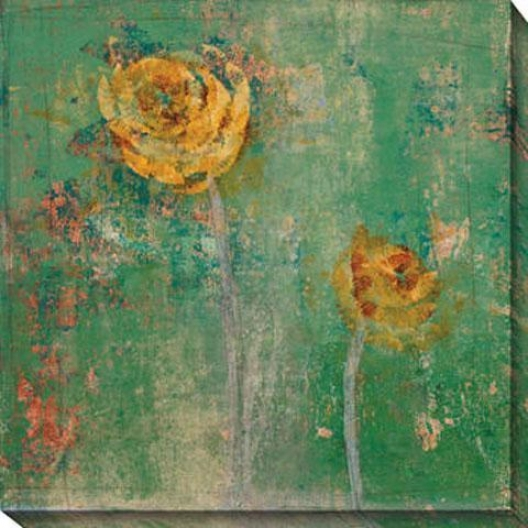 Green Floral I Canvas Wall Art - I, Green