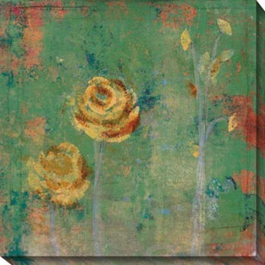 Green Floral Ii Canvas Wall Art - Ii, Green