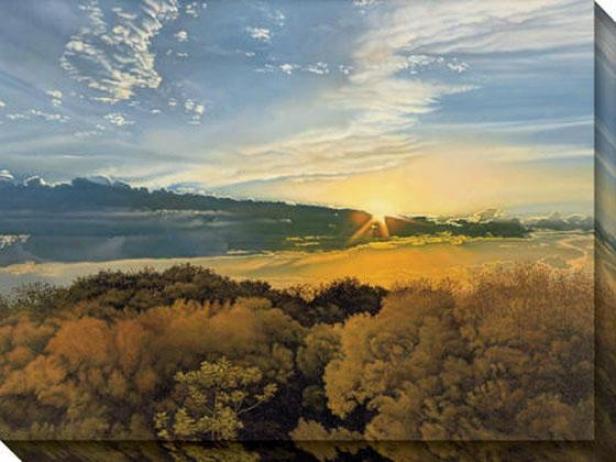 """""""guanajuato Sun Canvas Wall Art - 48""""""""hx36""""""""w, Beige"""""""