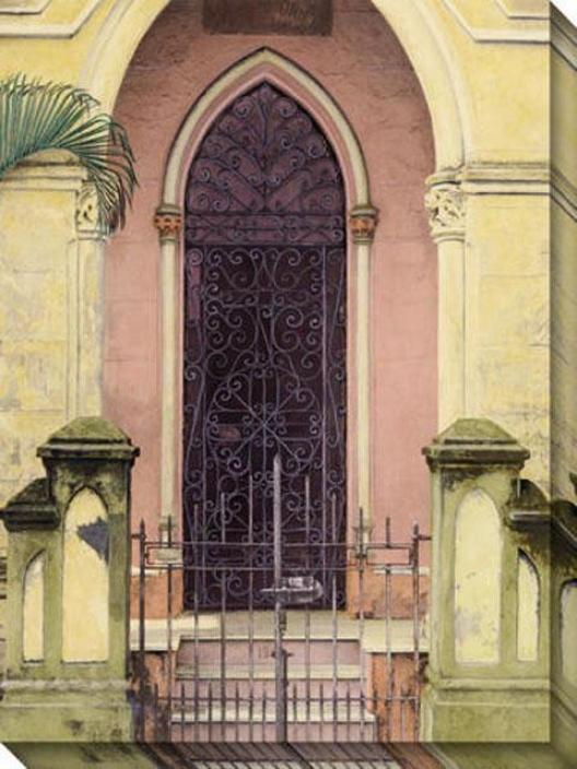 Habana Puerta Iii Cnvas Wall Art - Iii, Yellow