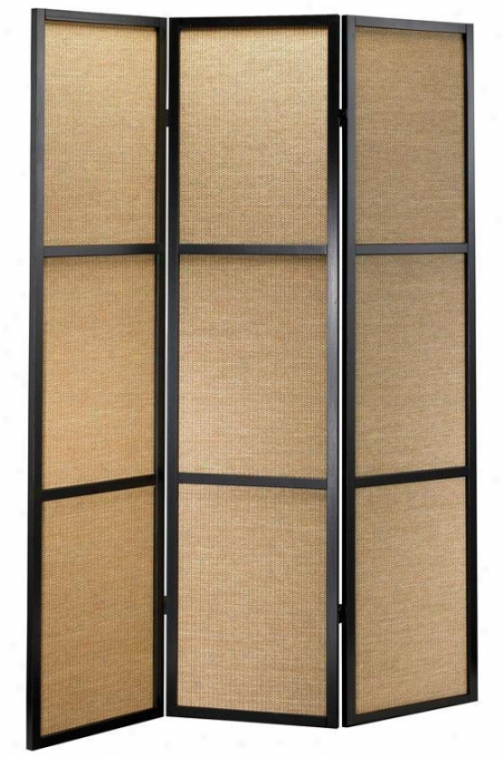 """haiku Room Divider - 52""""wx70""""h, Black"""