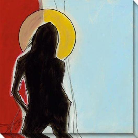 """""""halo Canvas Wall Art - 40""""""""hx40""""""""w, Blue"""""""