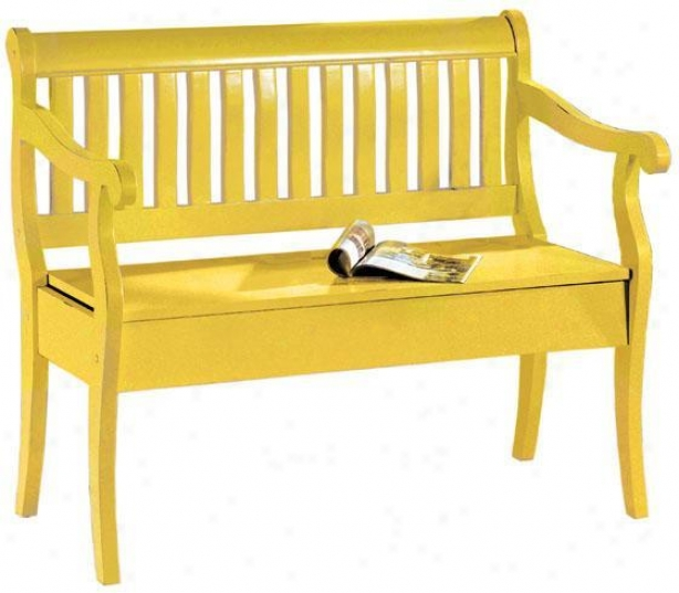 """hqmilton Storage Bench - 35""""hx42.5""""w, Gold"""
