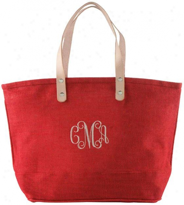 """hampton Tote - 17.25h X 10.5w X 5.5""""d, Red"""