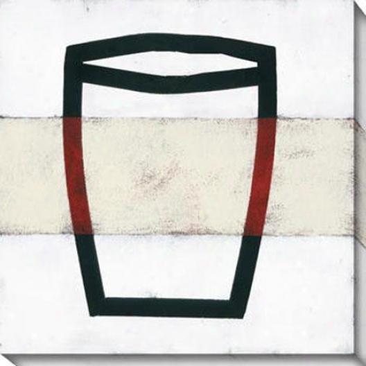 Hang About Ii Canvas Wall Art - Ii, White