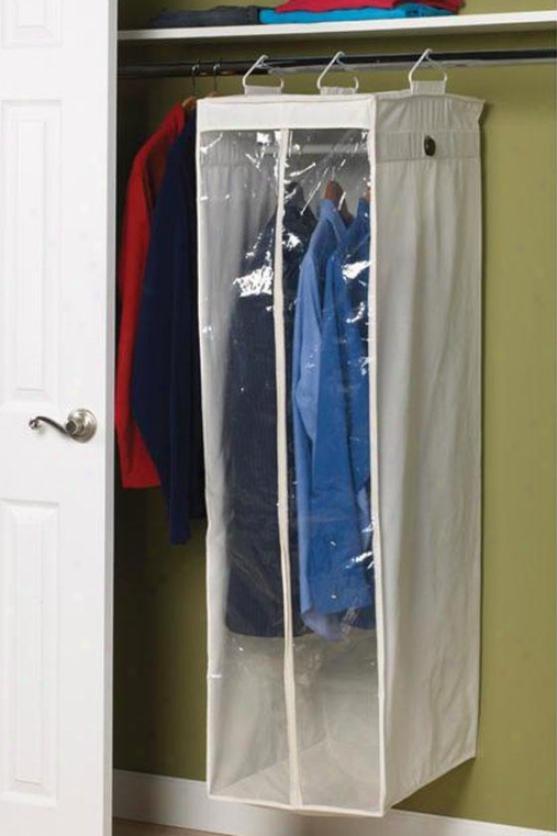 """hanging Canvas Wardrobe - 54""""hx15""""w, Ivory"""