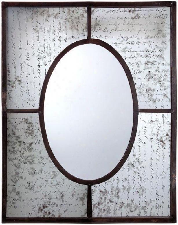 """""""harmonie Mirror - 35.5""""""""h X 30""""""""w, Pumpkin"""""""