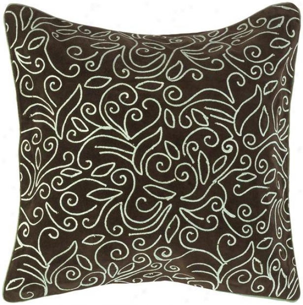 Harper Decorative Pillow - 18hx18w Down, Coffee Brown