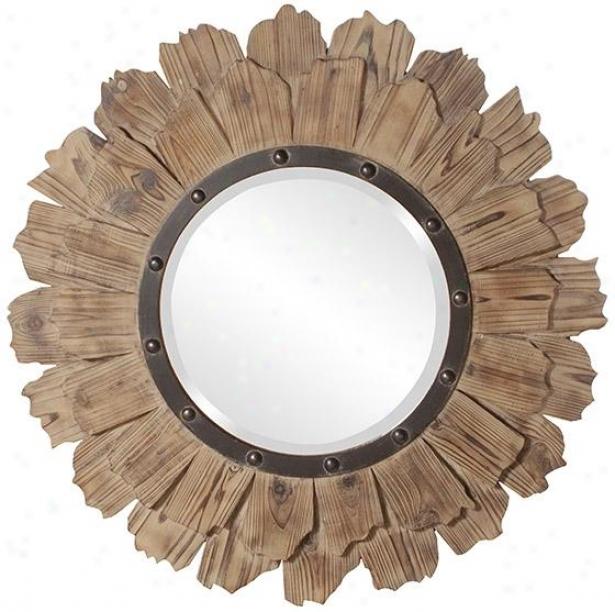 Hawthorne Wall Mirror - 35hx35w, Brkwn