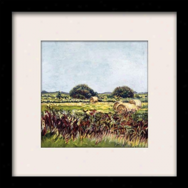 """hay Bale Framed Wall Art - 27""""hx27""""w, Matted Black"""