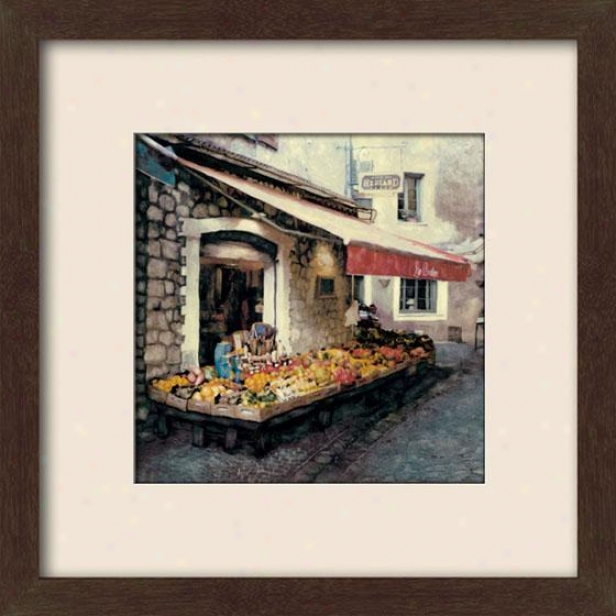 """hediard Framed Wall Trade - 27""""hx27""""w, Matted Espresso"""