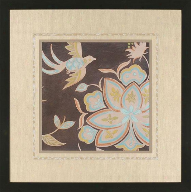 Hierloom Floral Wall Art I - Ii, Brown