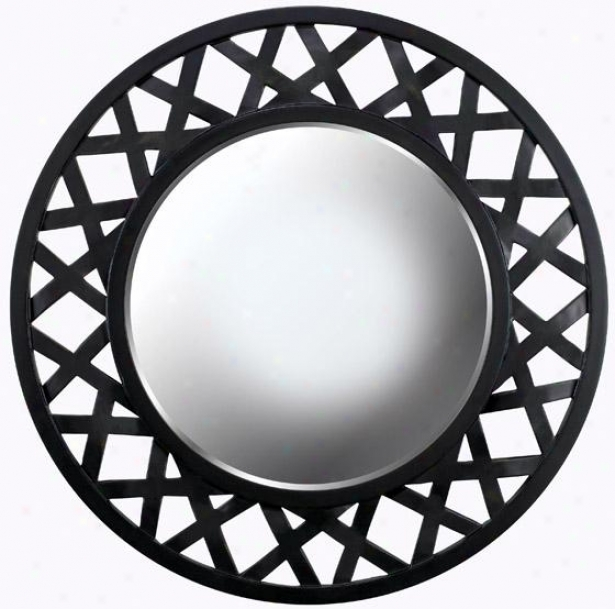 """heltor Wall Mirror - 34"""" Round, Bronze"""