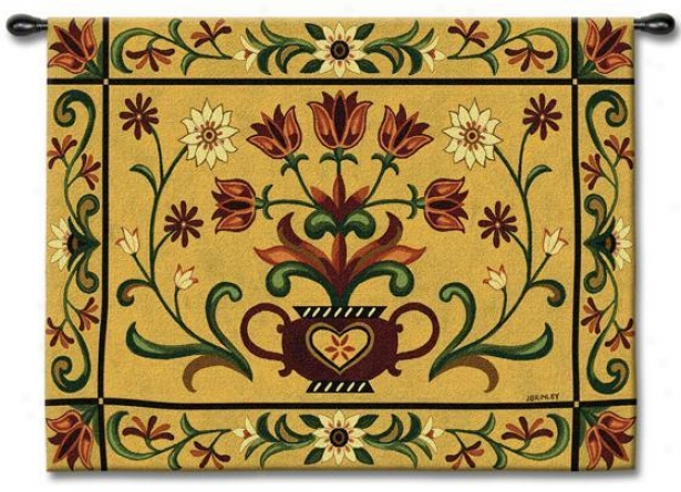 """""""heritage Floral Tapestry - 40""""""""hx53""""""""w, Multi"""""""