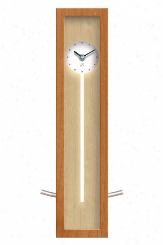 """high Rise Natural Clock - 16.5""""hx6""""w, Natural Wood"""