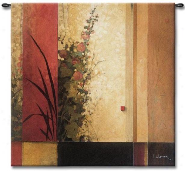 oHllyhock Garden Ii Tapestry - Medium, Multi