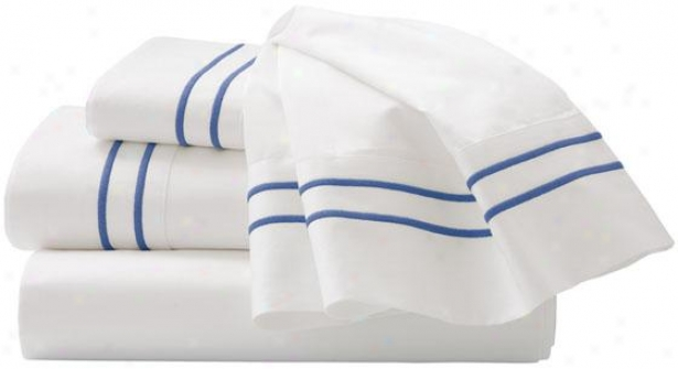 Hoke Decorators Collection Embroidered Sheet Set - Kimg, Lapis Lazuli
