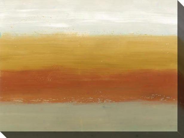 Horizon Lines I Canvas Wall Art - I, Earthtones