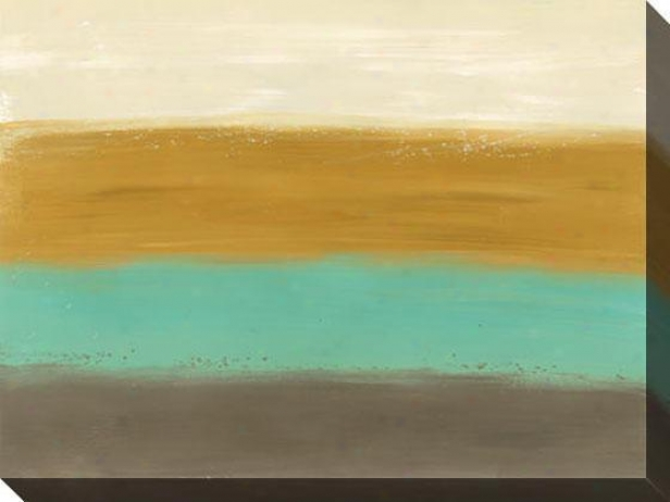 Horizon Lines Ii Canvas Wall Art - Ii, Earthtones
