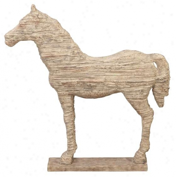 """horse Statue - 19""""hx12""""wx3""""d, Ivory"""