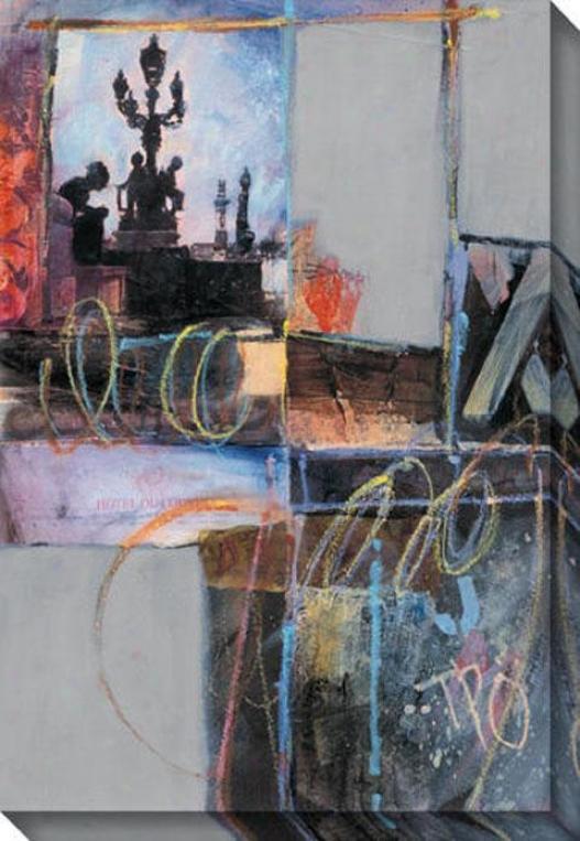 """hotel Du Louvre Canvas Wall Art - 34""""hx48""""w, Black"""