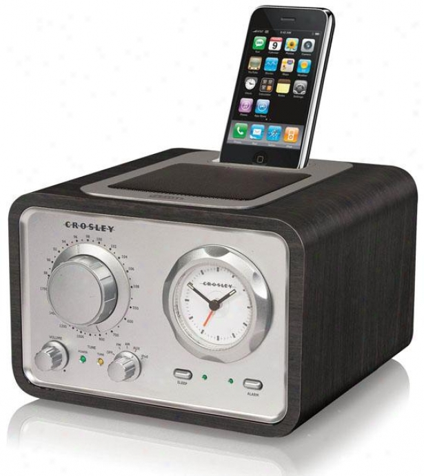 """iduet Alarm Clock Radio - 7.5wx7.5dx5""""h, Black"""
