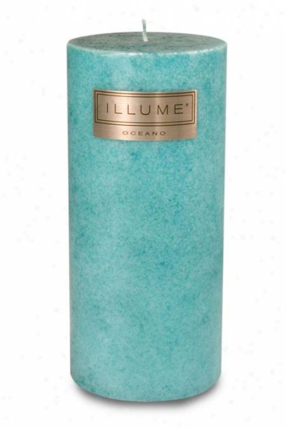 """illume Pillar Candle - 3""""h X 3""""w, Oceano"""