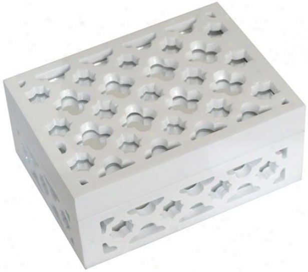 """imogen Box - 7""""wx5""""dx3""""h, White"""